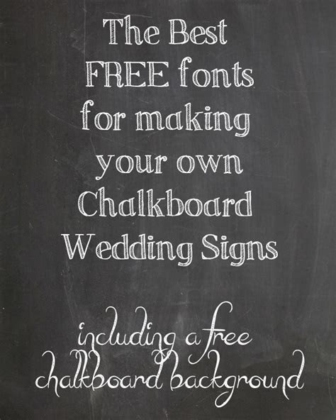 free chalkboard fonts for weddings   The Wedding of My