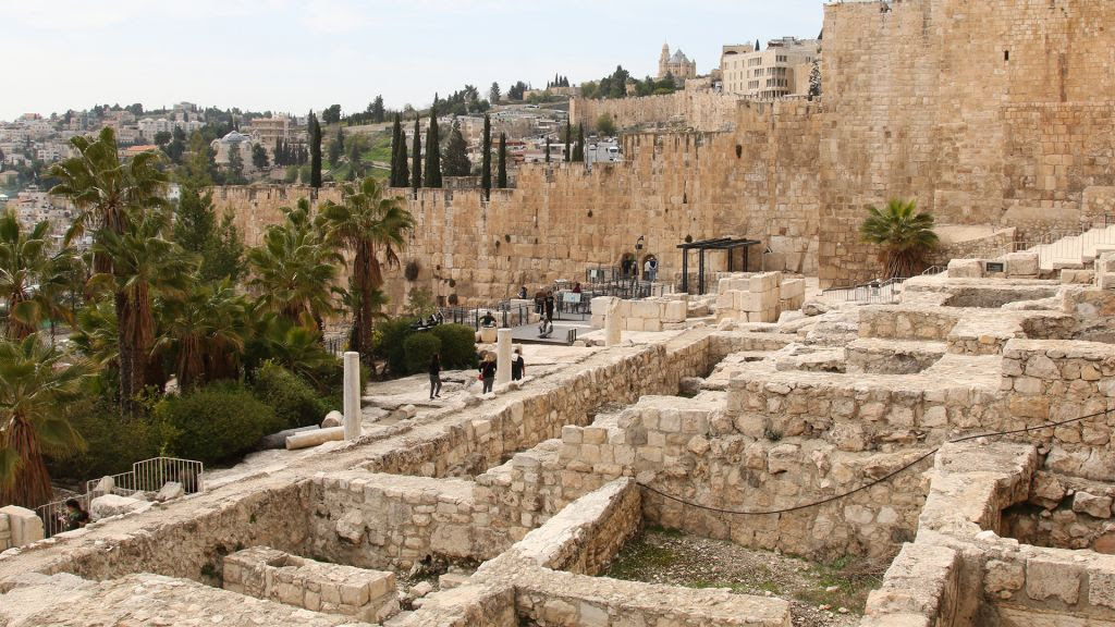 The Archaeological Park just outside Jerusalem's Old City walls. (Shmuel Bar-Am)