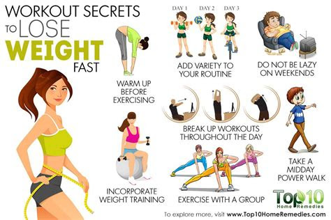 workout secrets  lose weight fast top  home remedies