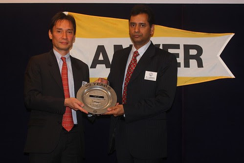 Twenty Year Award Presented to Wallem's Capt Subramanian 1