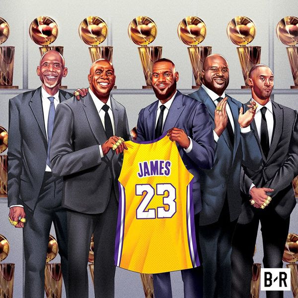 LeBron James will soon be in the company of Laker legends.