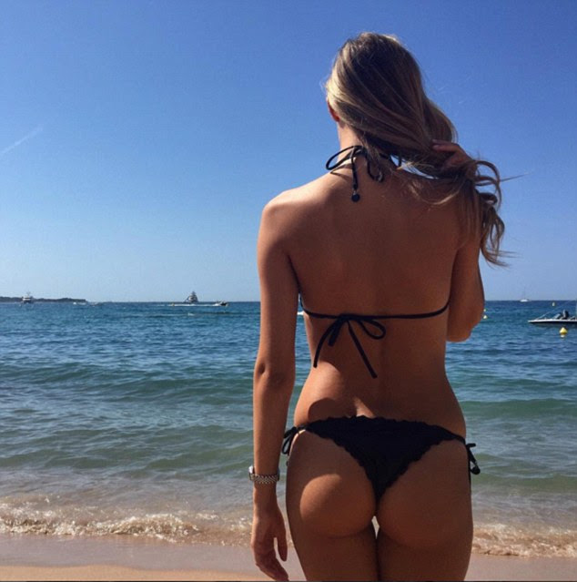 'Have a great Sunday everyone':Since meeting the former Feyenoord striker, Viky has posted enviable photos for her 41,000 Instagram followers from Australia, Dubai, Singapore, Santorini, Sardinia, Ibiza and Cannes