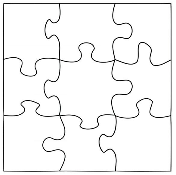 Puzzle Template, Blank Puzzle Template | Free & Premium Templates
