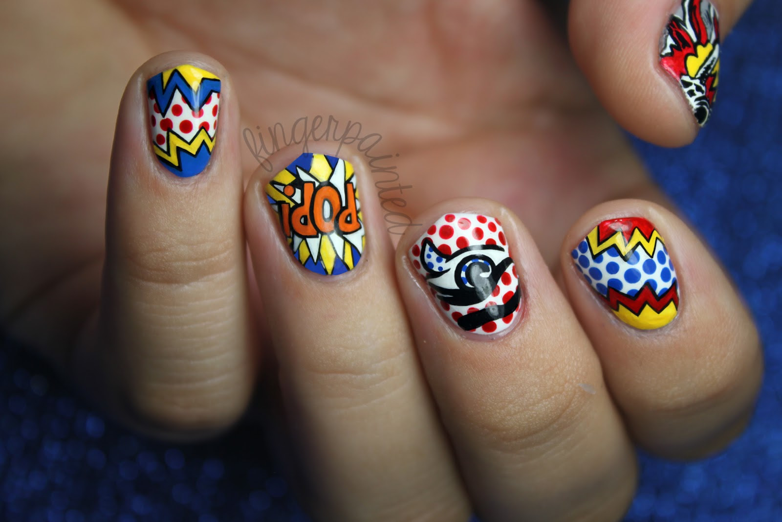 Pop Art Nails Ucapan Pernikahan