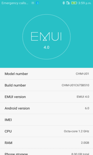 Honor 4C B510 Marshmallow