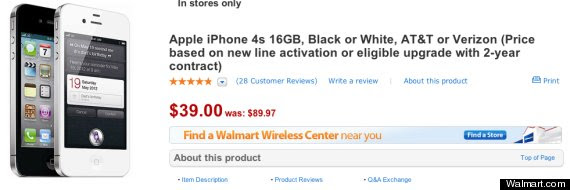 Walmart Cuts Price Of iPhone To $98 Ahead Of Expected 5S Release | HuffPost