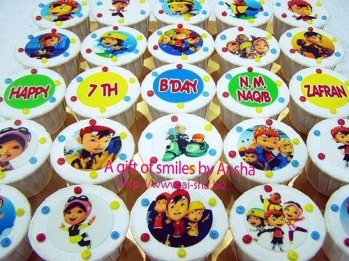 Birthday Cupcakes Edible Image Boboiboy Ai-sha Puchong Jaya