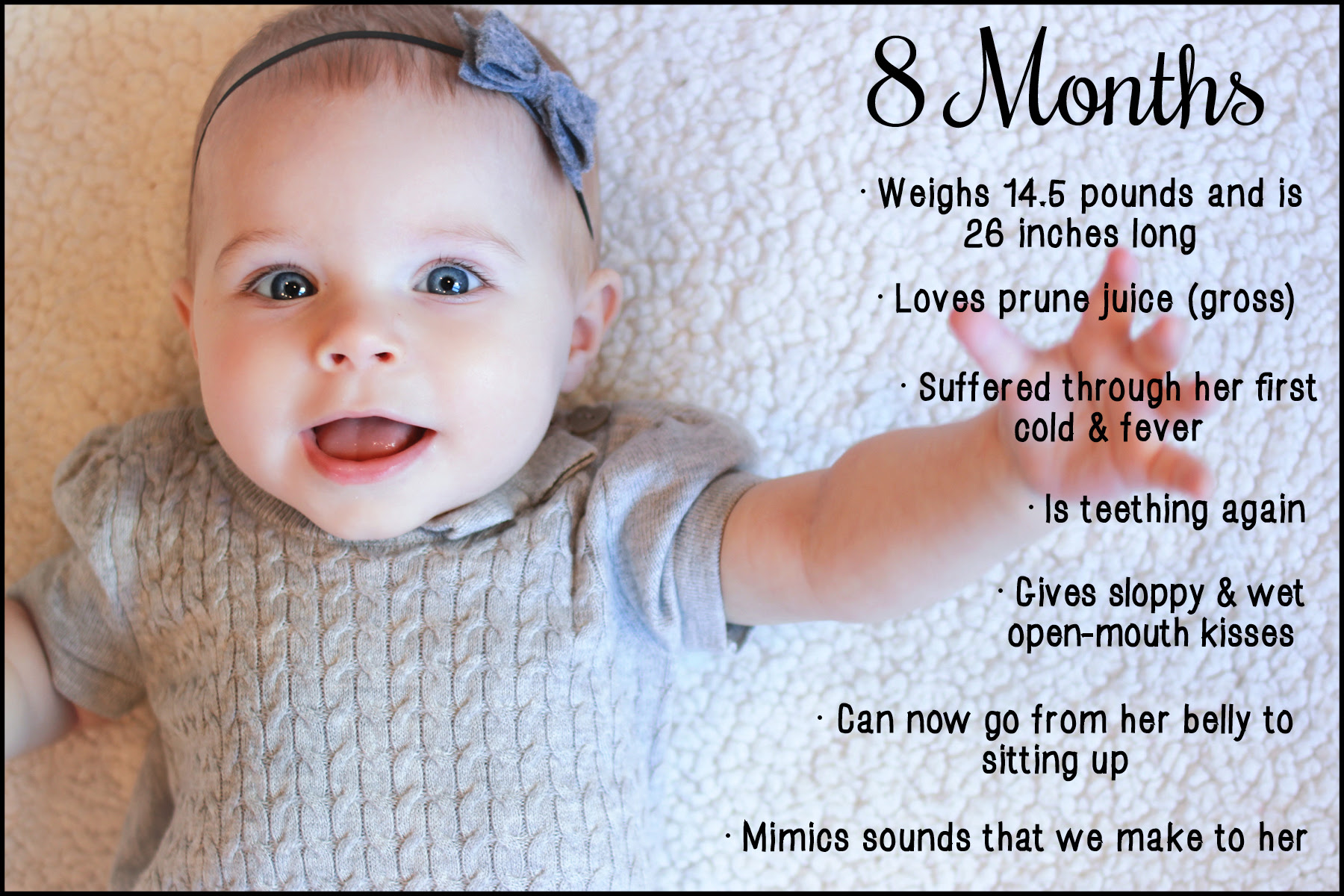 8 Month Baby Milestones