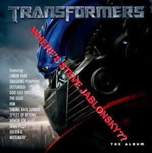 TRANSFORMERS Soundtrack cover...altered.