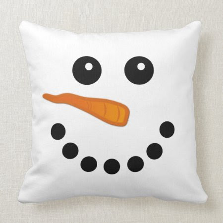 Snowman Face Pillow