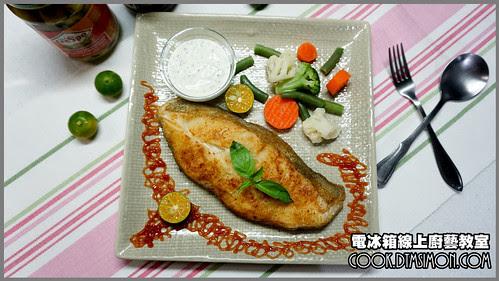 香煎蒜味鱈魚排佐塔香優格醬07.jpg