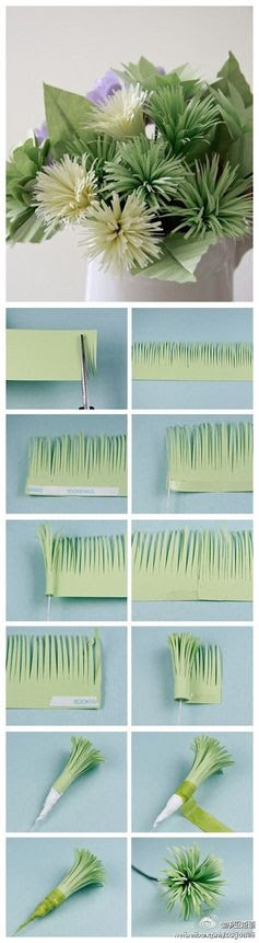 DIY Paper Aster Pom Flowers