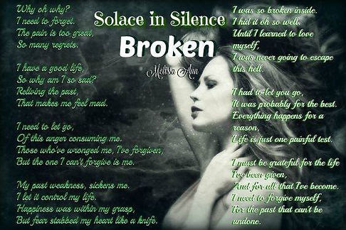 Poem Showcase Broken By Melissa Ann Welcome Author Amy Shannon