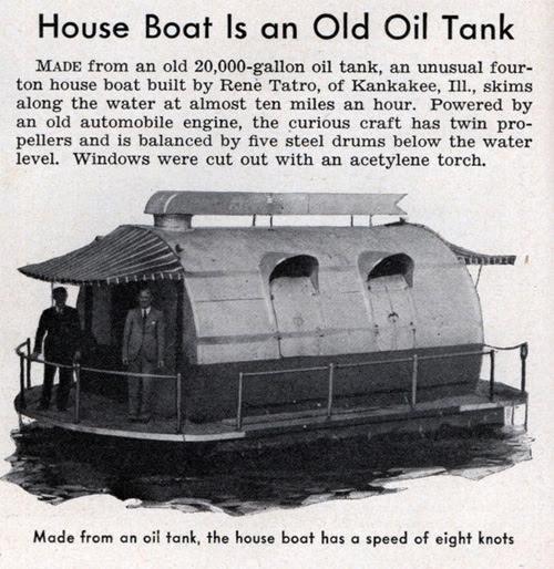 The Oil Tank House Boat | IM Design