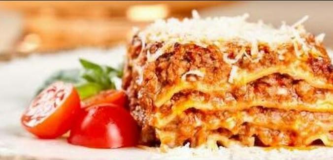 Delicious Pasta Lasagne Al Forno with Tomato Sauce
