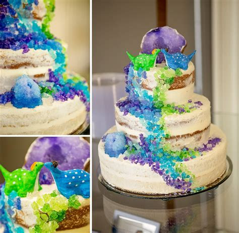 Geode Wedding Cakes are Trending in 2017. Here's a Couple
