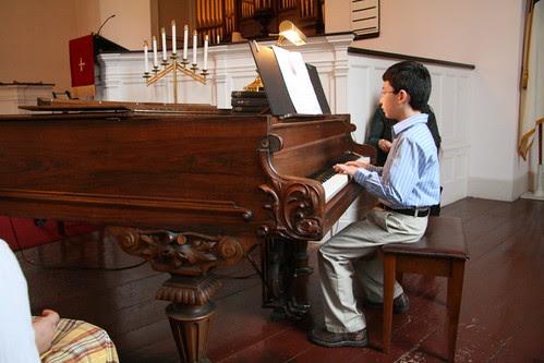 Adam's piano recital