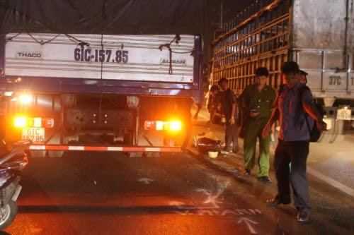 Hình ảnh Tai nạn nghiêm trọng, một phụ nữ tử vong dưới bánh xe tải số 1