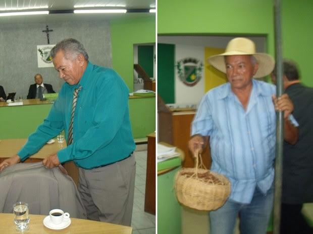 Verador troca roupa social por de homem rural (Foto: Divulgação/ Assessoria)