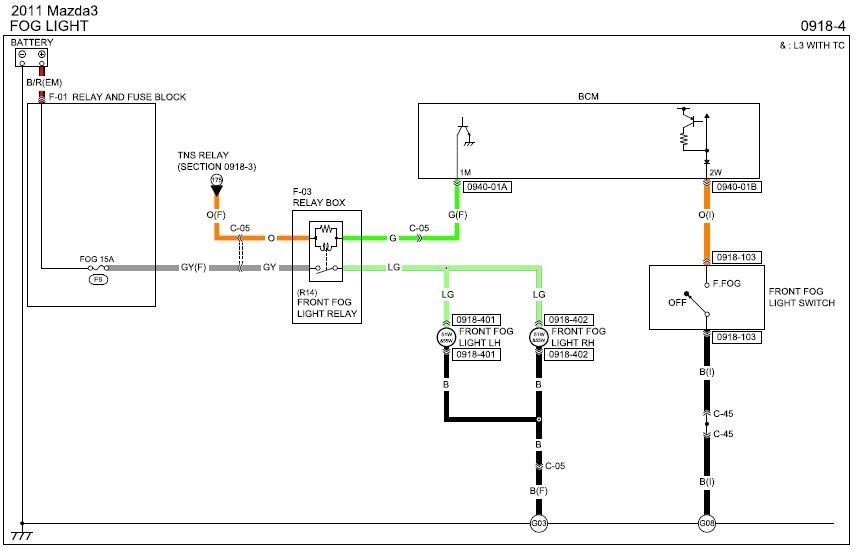 Mazda 3 Fog Light Wiring Diagram