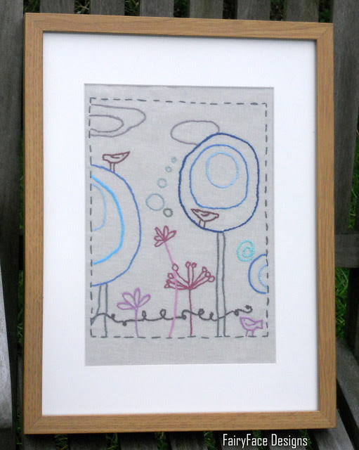 22 Dec embroidery framed