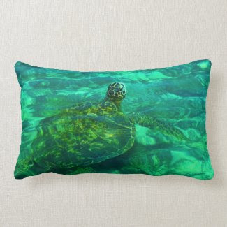 Hawaiian Honu Sea Turtle Pillows