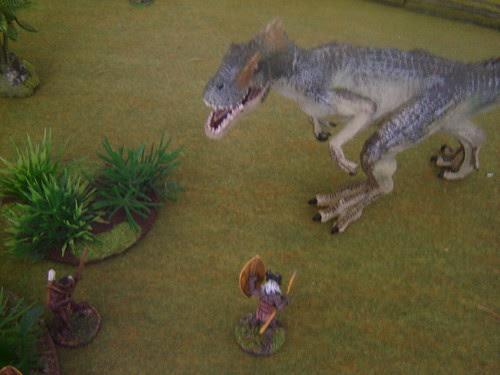 Kpelle surprised by Allosaurus