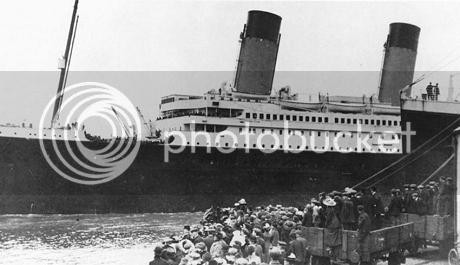 R.M.S. Titanic in Southampton, England.