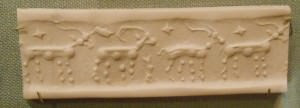 Cylinder Seal, Horned Animals ()