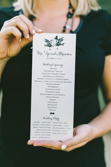 8 Wedding Ceremony Program Ideas   Every Last Detail