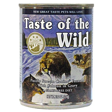 taste   wild pacific stream canine canned dog food