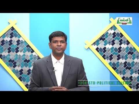 12th Political Science அலகு 1 இந்திய அரசியல் அமைப்பு பகுதி 2 Kalvi TV