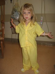 Modeling the lovely yellow jammies
