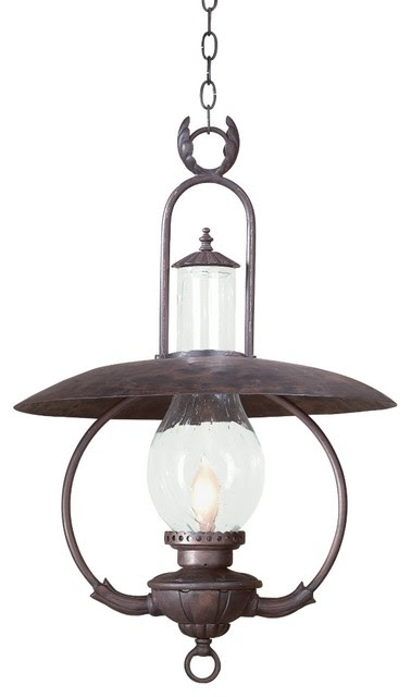 "La Grange 30"" High Outdoor Hanging Lantern Fixture - traditional"