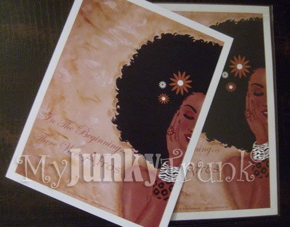 11X14 Print- In The Beginning There Were Afros- African American Print