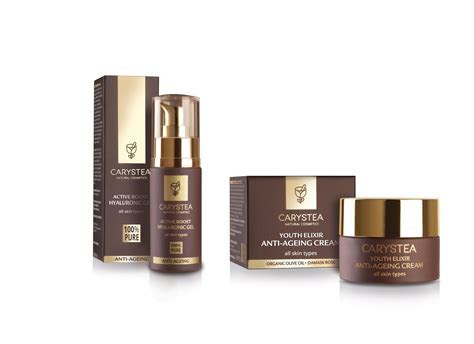 CARYSTEA Natural Cosmetics packaging design by Open web
