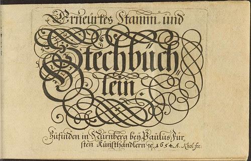 Stechbüchlein - Harsdörffer -  (emblem book title page 1654)