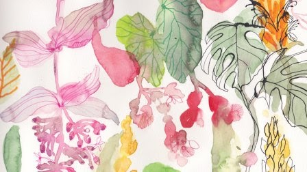 Skillshare Free Class-Creating Abstract Florals: Using Watercolors, Ink, Colored Pen or Pencil