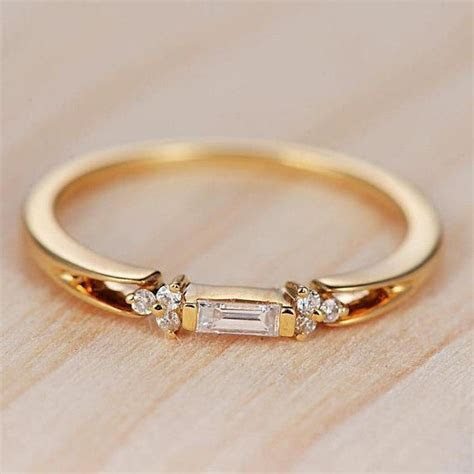 Baguette Cut Diamond Wedding Band Women Cluster Ring