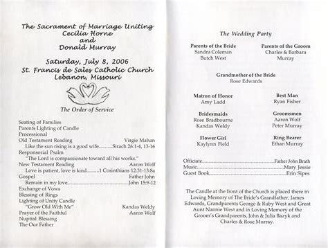 free printable wedding programs templates   Inside of