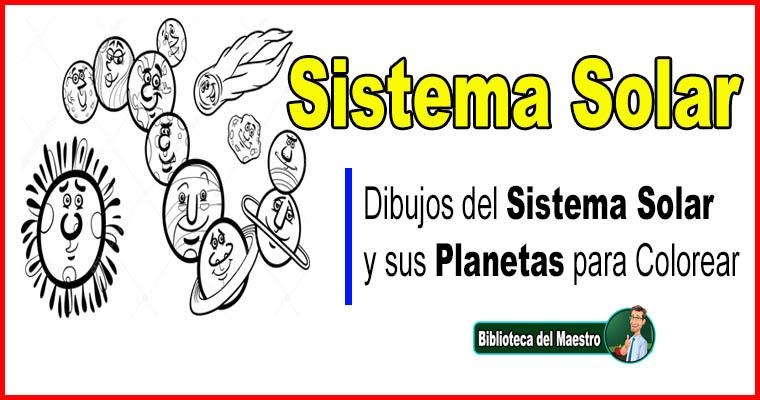 Dibujos Del Sistema Solar Y Sus Planetas Para Colorear Biblioteca