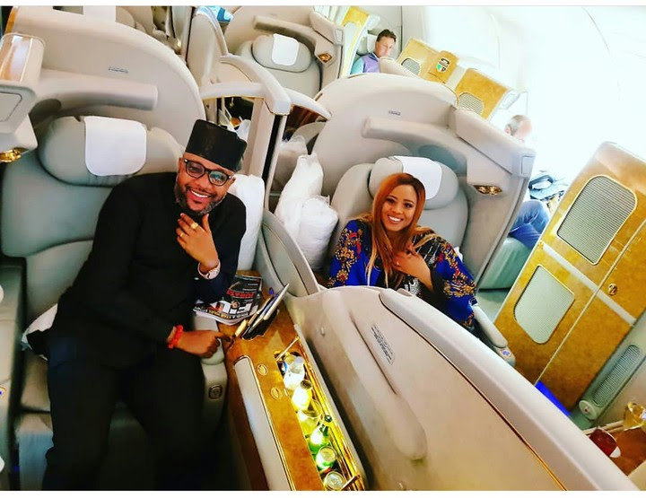 E-money And Wife Juliet All Smiles As They Jet Out For Vacation - Photos