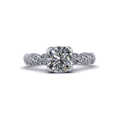 Cushion Cut Infinity Engagement Ring   Jewelry Designs