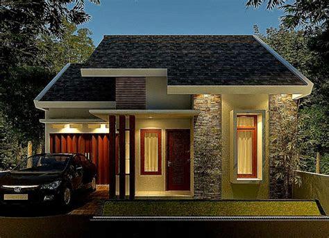 Desain Rumah Batu Alam Sederhana Sinergi Stone