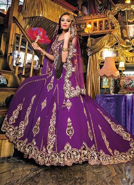 Purple gold lengha   this is devine wow   Ax   Beautiful