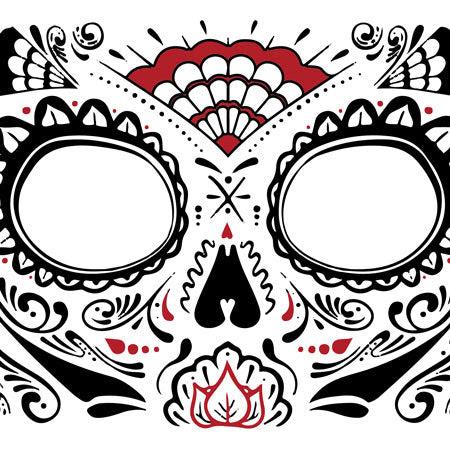 Día De Los Muertos Face Tattoo Krome Body