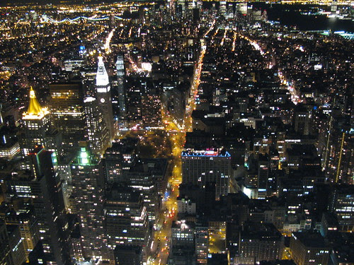 New York City, Night from Empire State