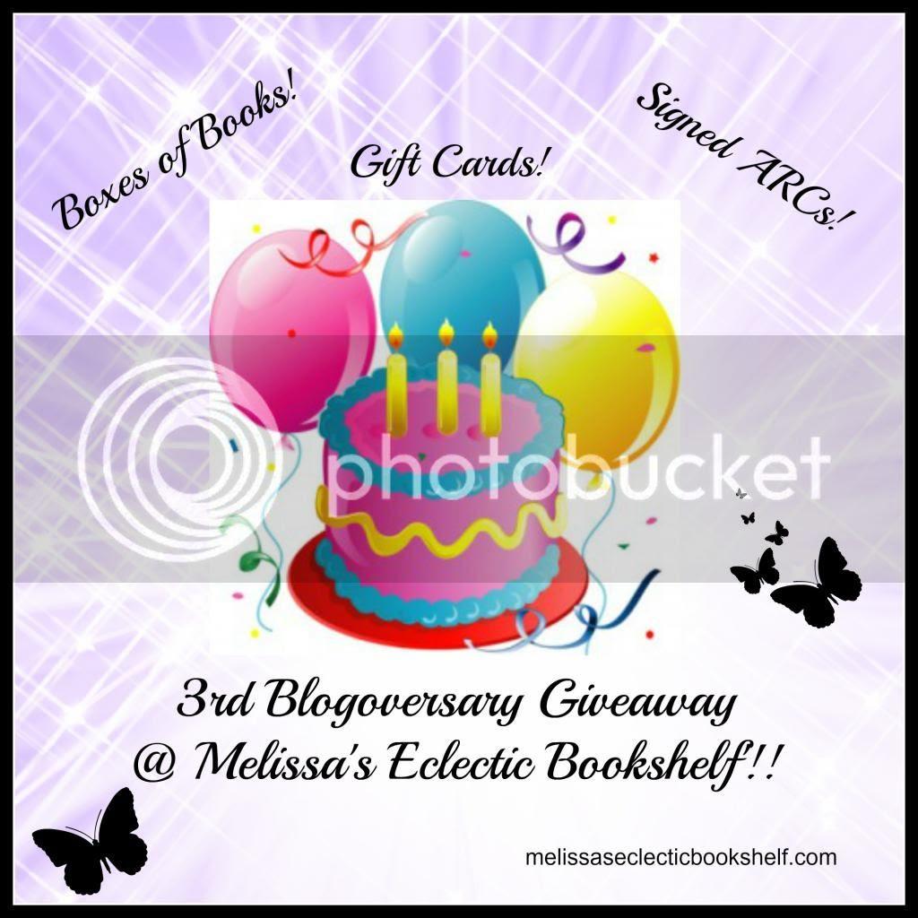 3rd Blogoversary Giveaway @ Melissa's Eclectic Bookshelf