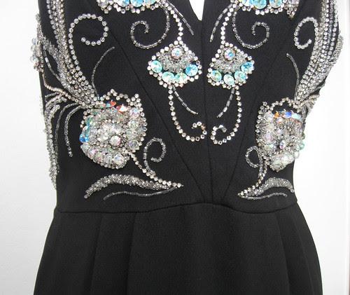 Vintage dress waist seam