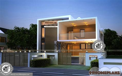 small urban house plans double floor  style modern home